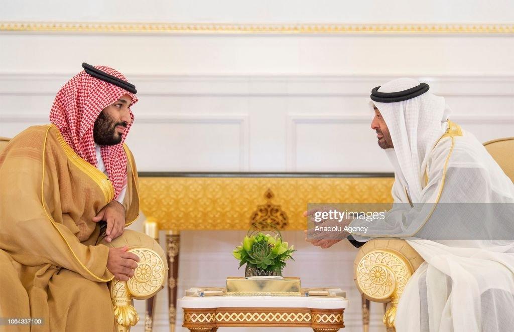 Mohammad bin Salman - Mohammed bin Zayed Al Nahyan meeting : News Photo