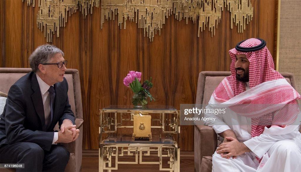 Mohammad bin Salman-Bill Gates meeting in Riyadh : News Photo
