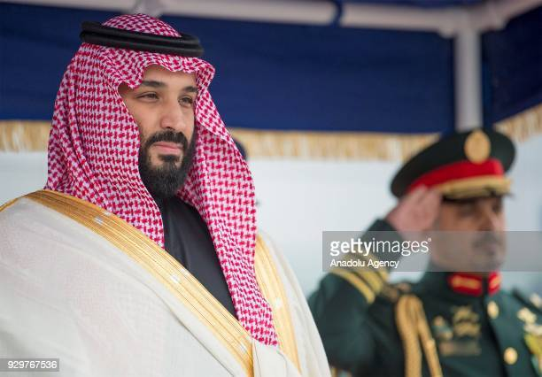 Crown Prince and Defense Minister of Saudi Arabia Mohammad bin Salman AlSaud is welcomed with an official ceremony by British Secretary of State for...