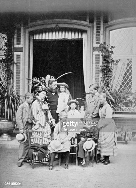 Crown Prince and Princess of Prussia and their family, c1875. Photograph from a Royal Family album in Osborne House, Isle of Wight. Crown Prince...