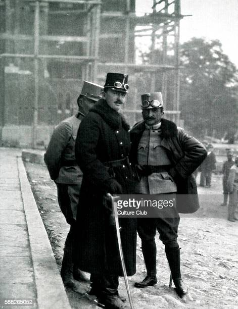 Crown Prince Carl Franz Joseph of Austria at the headquarters of the Austro- Hungarian Army.