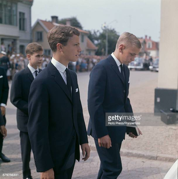 Crown Prince Carl Gustaf of Sweden pictured wearing a black tie and suit at a formal function circa 1967 Crown Prince Carl Gustaf would become King...