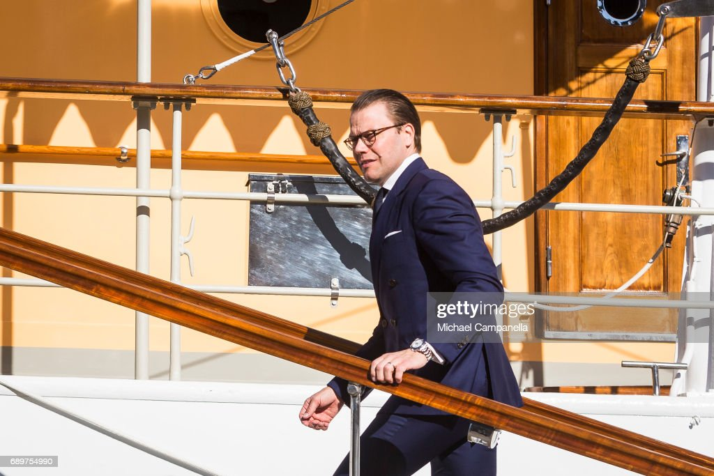 Crown Prince Daniel of Sweden at Royal Danish Yatch on May 29, 2017 in Stockholm, Sweden.