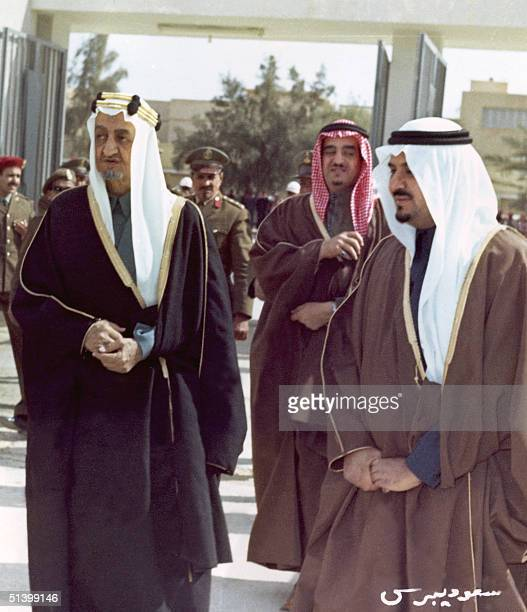 Crown Prince Fahd ibn Abd al-Aziz of Saudi Arabia , Saudi second Vice-President of the Council and Interior minister, follows Saudi King Abd al-Aziz...