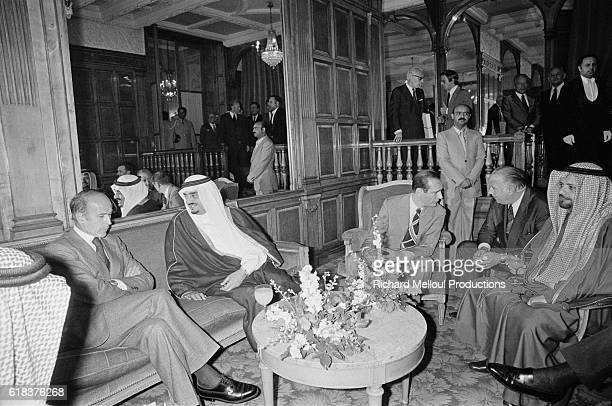 Crown Prince Fahd of Saudi Arabia meets with French President Valery Giscard d'Estaing and French Prime Minister Jacques Chirac in Paris Prince Fahd...