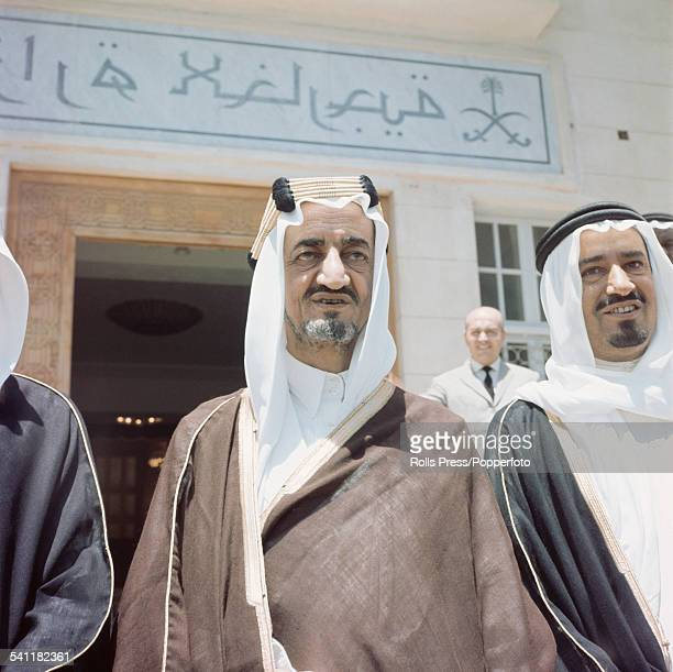 Crown Prince Faisal of Saudi Arabia pictured in the Middle East circa 1963