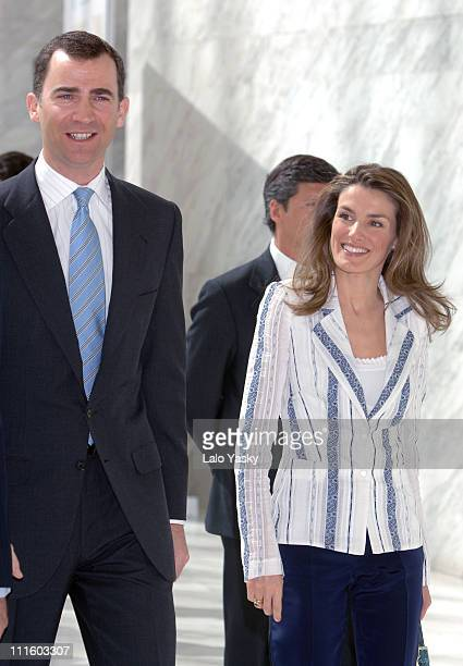 Crown Prince Felipe and Crown Princess Letizia during Crown Prince Felipe and Pincess Letizia attend the 50th Anniversary of the 'The Association for...