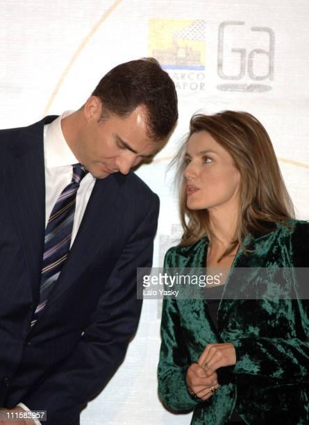 Crown Prince Felipe and Crown Princess Letizia Present Children and Youth Literature Awards 'Barco de Vapor' and 'Gran Angular' at Casa de Correos in...