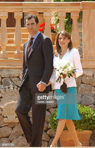 Crown Prince Felipe and his wife Princess Letizia visit Hotel Valldemosa on the fifth and final day of their official visit to the Baleares Islands...