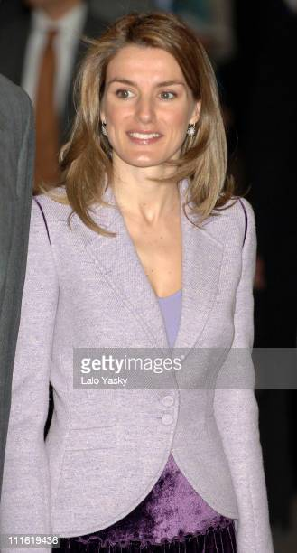 Crown Prince Felipe and Princess Letizia at the Opening of '24th International Ceramics Construction Bath and Kitchen Equipment Fair' in La Fira of...