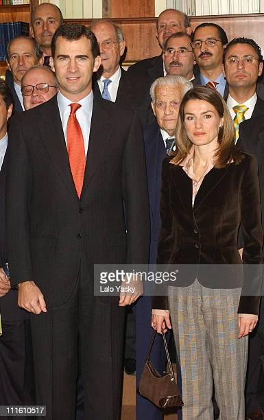 Crown Prince Felipe and Princess Letizia during Crown Prince Felipe and Princess Letizia Attend the 50th Anniversary of the Professional Economists...