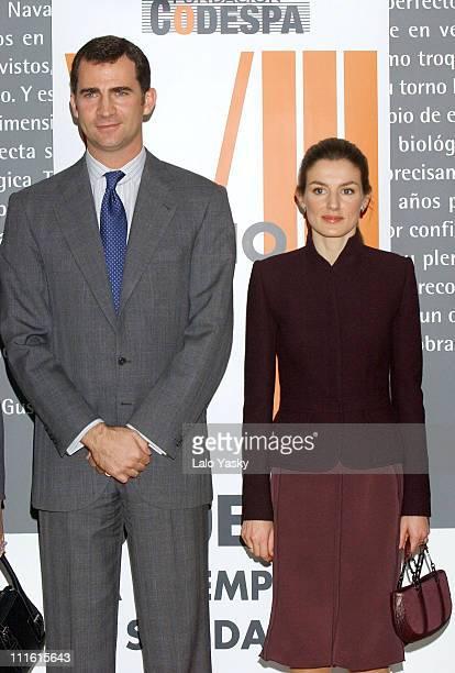 Crown Prince Felipe and Princess Letizia during Crown Prince Felipe and Princess Letizia Present The Codespa Foundation Empresa Solidaria Award at...