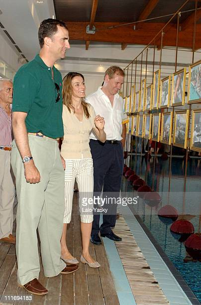Crown Prince Felipe and Princess Letizia during Opening of a Photo Exhibition to Conmemorate the 25th Aniversary of the Copa del Rey Sailing Trophy...