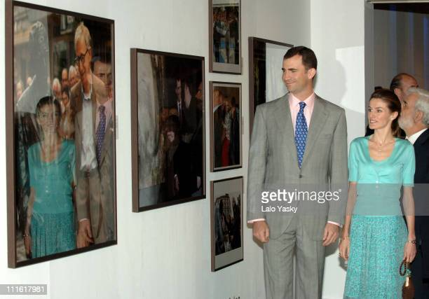 Crown Prince Felipe and Princess Letizia during Prince Felipe and Princess Letizia at Photo Exhibition 25 Years of the Prince of Asturias Awards May...