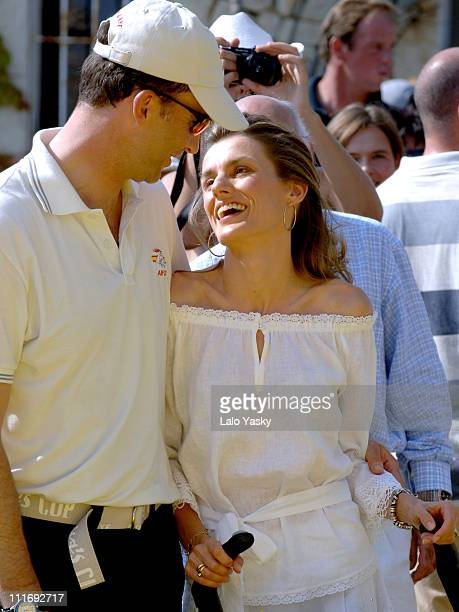 Crown Prince Felipe and Princess Letizia during Royals at the Awards Ceremony for the 2006 Edition of the Breitling Sailing Trophy at Puerto Portals...