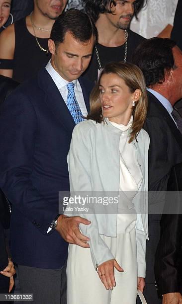 Crown Prince Felipe and Princess Letizia during Spanish Royals Attend 'Me Olvide de Vivir' Gala in Favor of the Queen Sofia Foundation at Vista...