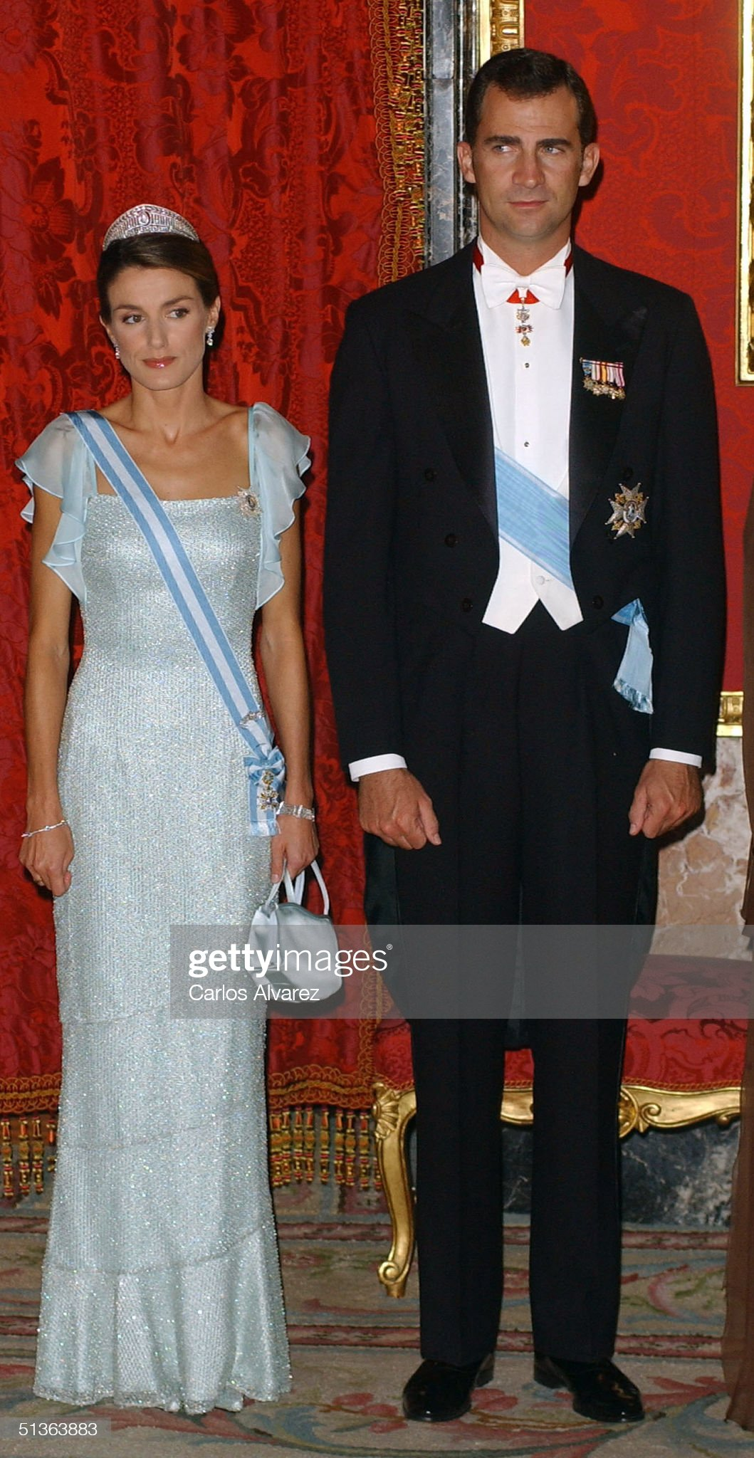 Вечерние наряды Королевы Летиции Spanish Royals Host Gala Dinner For Vaclav Klaus : News Photo