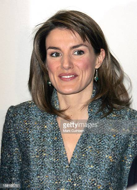 Crown Prince Felipe, Crown Princess Letizia Of Spain And Crown Princess Victoria Of Sweden Inaugurate The Cervantes Institute Of Stockholm. .