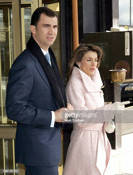 Crown Prince Felipe & Crown Princess Letizia Of Spain Head Off From The Grand Hotel, Stockholm, For Lunch At The Royal Palace. Later In The Afternoon...