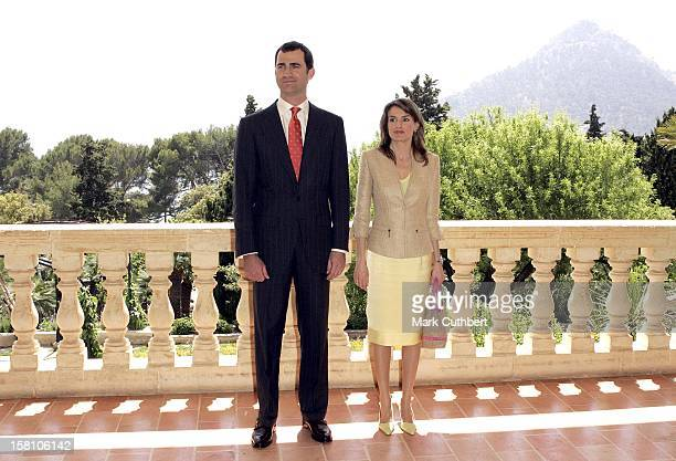 Crown Prince Felipe Crown Princess Letizia Of Spain Visit The Balearic IslandsLuncheon At The Formentor Hotel In Majorca