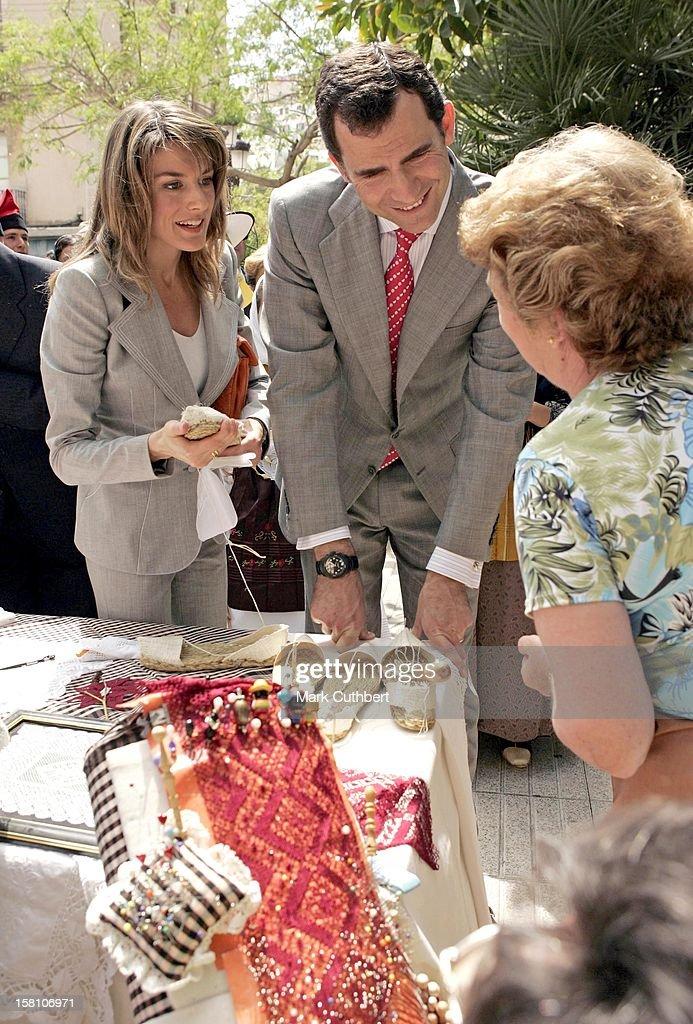Crown Prince Felipe & Crown Princess Letizia Of Spain Visit The Balearic Islands : News Photo