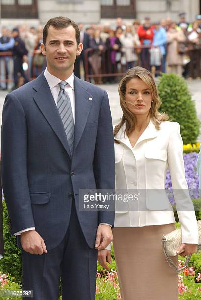 Crown Prince Felipe of Spain and his Fiancee Letizia Ortiz Rocasolano