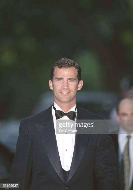 Crown Prince Felipe Of Spain At Bridgewater House For A Prewedding Party For Princess Alexia Of Greece
