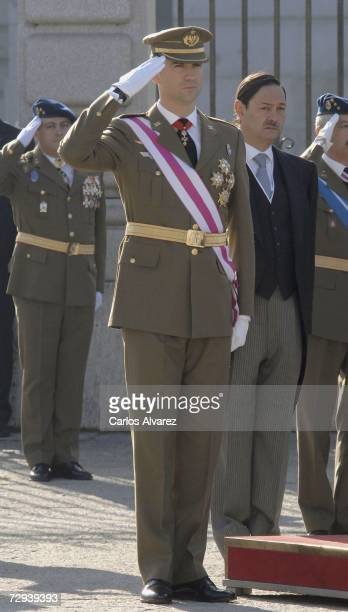 Crown Prince Felipe of Spain attends 'Pascua Militar' Day on January 6 2007 at Royal Palace in Madrid Spain
