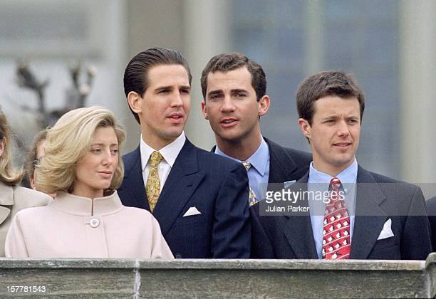 Crown Prince Felipe Of Spain Crown Prince Frederik Of Denmark Crown Prince Pavlos Crown Princess Marie Chantal Of Greece During The Celebrations For...
