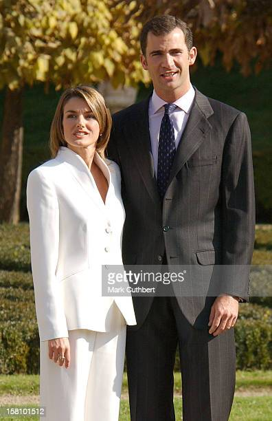 Crown Prince Felipe Of Spain Letizia Ortiz Rocasolano Officially Announce Their Engagement At The Palacio El Pardo In Madrid