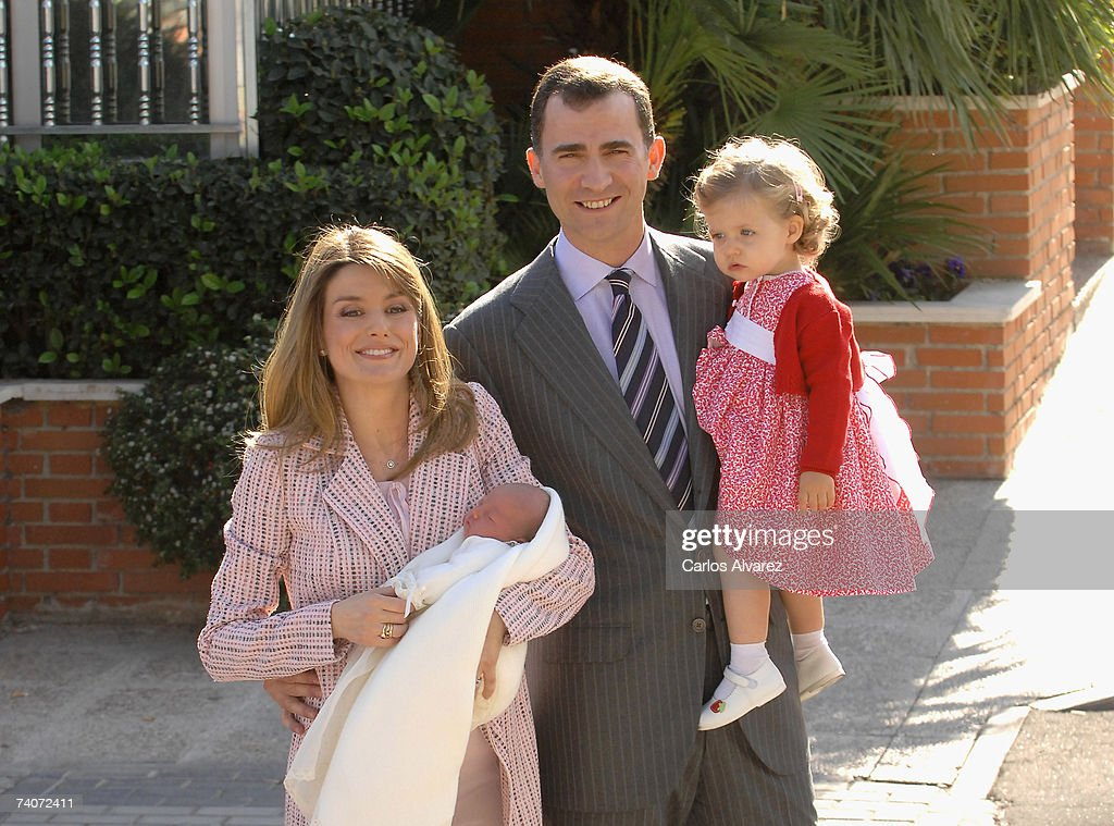 Princess Letizia Leaves The Clinic After The Birth Of 2nd Child