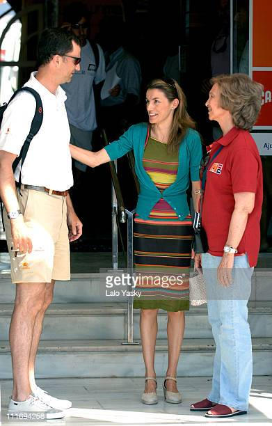 Crown Prince Felipe Queen Sofia and Princess Letizia