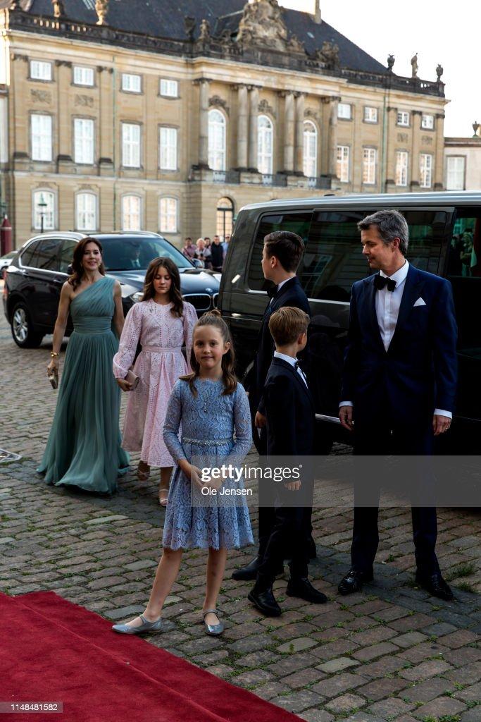 Queen Margrethe Of Denmark Host Birthday Dinner Party For Prince Joachim : Nieuwsfoto's