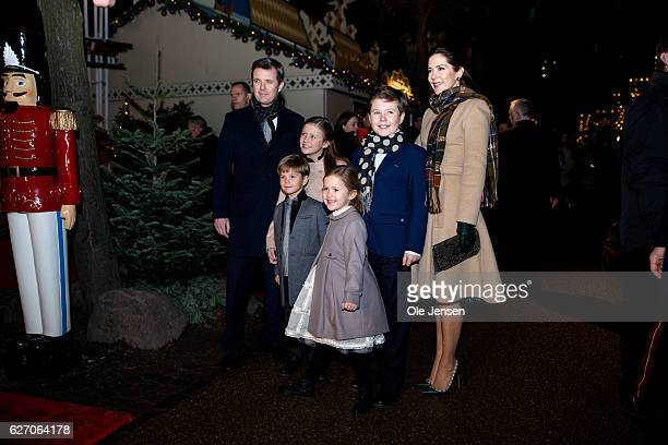 Crown Prince Frederik and Crown Princess Mary arrive with children to the premiere of the Tarkovsky The Nutcracker ballet in Tivoli which has the...