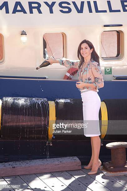 Crown Prince Frederik And Crown Princess Mary Attend The Naming Ceremony Of The New Tugboat 'Svitzer Marysville' At Victoria Harbour Docklands...