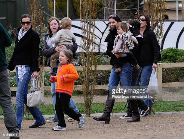Crown Prince Frederik and Crown Princess Mary enjoy a family day out with their children Prince Christian and Princess Isabella at a Hobart Zoo on...