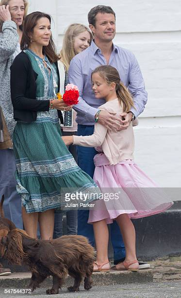 Crown Prince Frederik and Crown Princess Mary of Denmark and Princess Isabella of Denmark attend the annual summer photo call for The Danish Royal...
