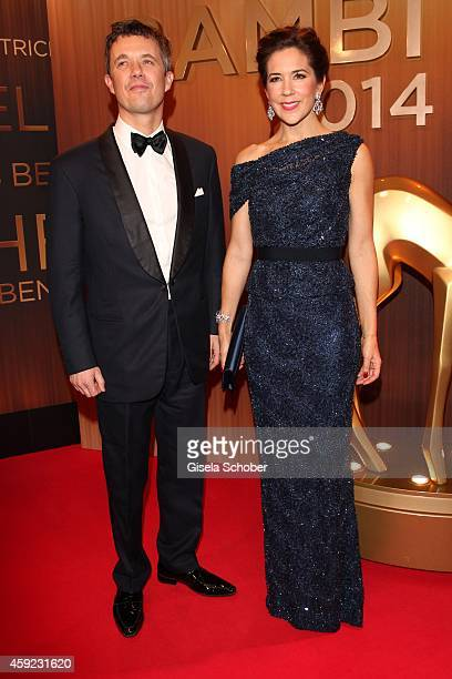 Crown Prince Frederik and Crown Princess Mary of Denmark arrive at the Bambi Awards 2014 on November 13 2014 in Berlin Germany