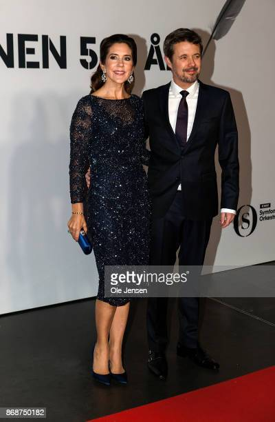 Crown Prince Frederik and Crown Princess Mary of Denmark arrive to the Danish Radio Concert Hall to participate in the celebration of the...