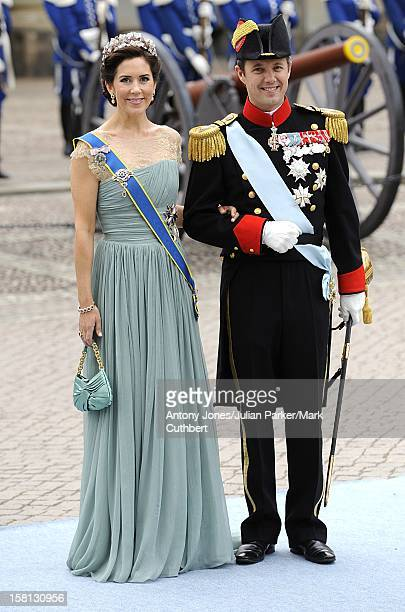 Crown Prince Frederik And Crown Princess Mary Of Denmark At The Wedding Of Crown Princess Victoria Of Sweden And Daniel Westling At Stockholm...