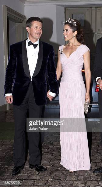 Crown Prince Frederik And Crown Princess Mary Of Denmark Attend A Gala Banquet At Fredensborg Palace Denmark To Celebrate Prince Henriks 75Th Birthday