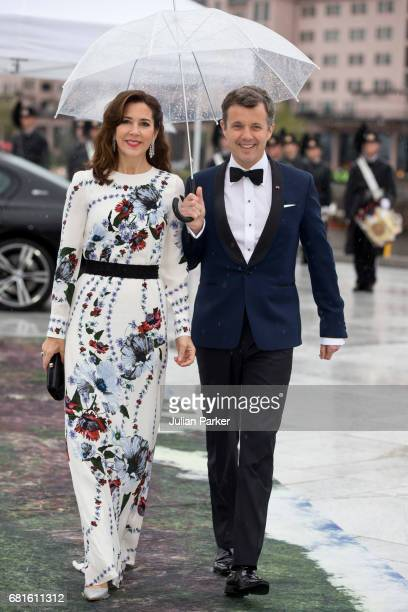 Crown Prince Frederik and Crown Princess Mary of Denmark attend a Gala Banquet hosted by The Government at The Opera House as part of the...