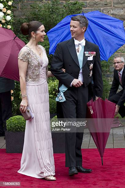 Crown Prince Frederik, And Crown Princess Mary Of Denmark Attend The Wedding Of Princess Nathalie Of Sayn-Wittgenstein -Berleburg, To Alexander...