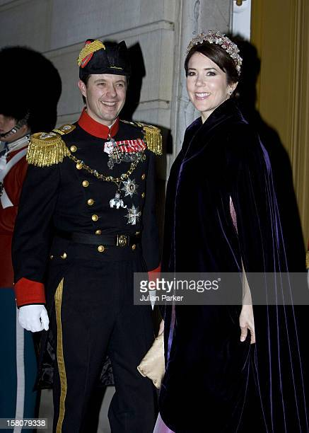 Crown Prince Frederik And Crown Princess Mary Of Denmark Attend The Traditional New Year Gala Dinner At Amalienborg Palace In Copenhagen Denmark