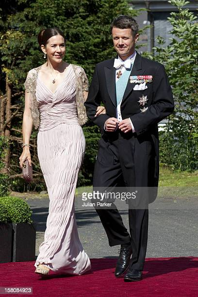 Crown Prince Frederik And Crown Princess Mary Of Denmark Attend The Wedding Of Princess Nathalie Of SaynWittgenstein Berleburg To Alexander...