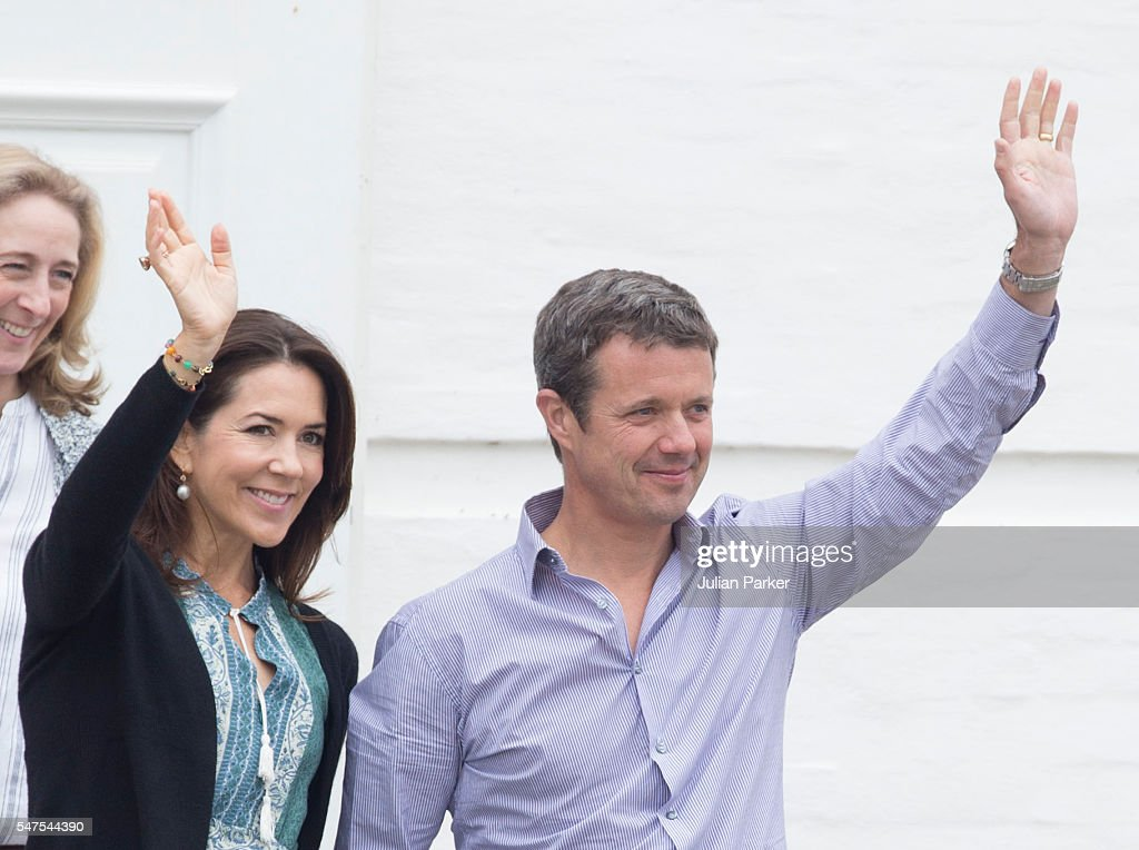 Crown Prince Frederik, and Crown Princess Mary of Denmark, attend the annual summer photo call for The Danish Royal Family at Grasten Castle, on July 15, 2016 in Grasten, Denmark.