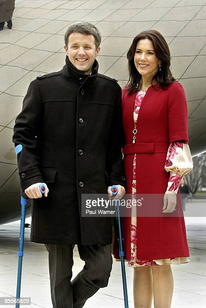 Crown Prince Frederik and Crown Princess Mary of Denmark attend the opening of the Climate & Energy Conference at the Chicago Cultural Center on...