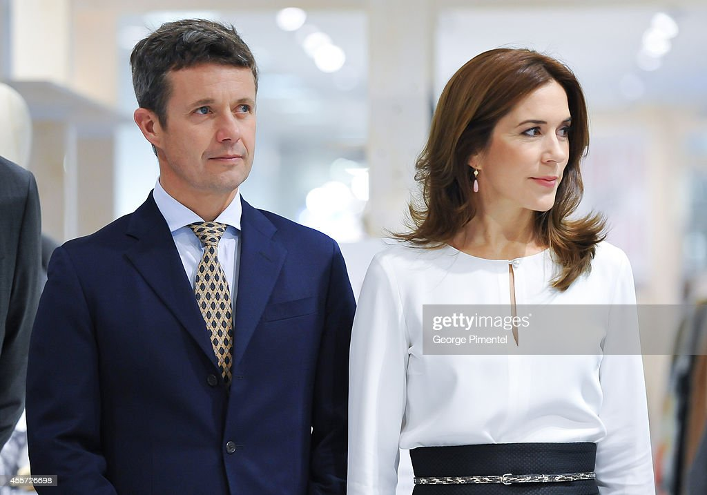 Crown Prince Frederik and Crown Princess Mary of Denmark attend official visit to Canada - Day 3 at The Hudson's Bay on September 19, 2014 in Toronto, Canada.