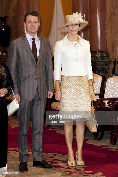 Crown Prince Frederik And Crown Princess Mary Of Denmark Begin A State Visit To Vietnam They Attend An Official Welcome Ceremony At The Presidential...