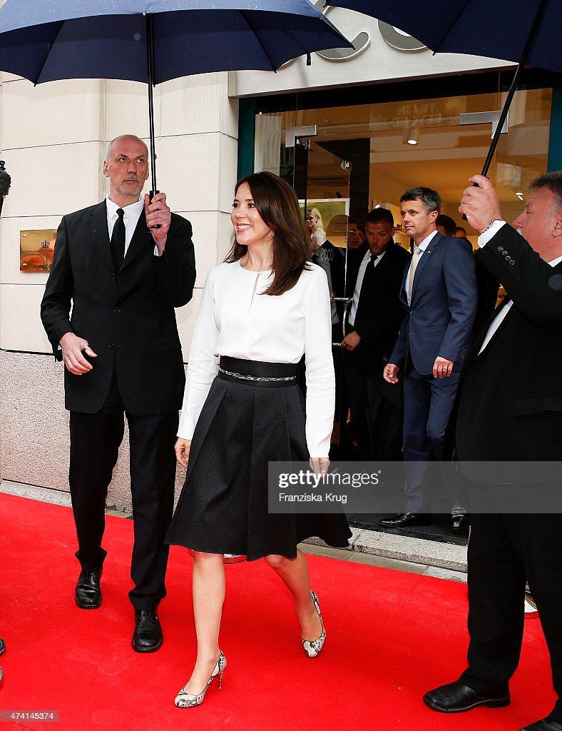 Danish Crown Prince Couple Opens ECCO Store Munich : News Photo